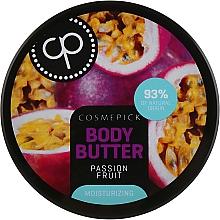 Düfte, Parfümerie und Kosmetik Feuchtigkeitsspendende Körperbutter mit Passionsfrucht - Cosmepick Body Butter Passion Fruit