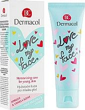 Düfte, Parfümerie und Kosmetik Feuchtigkeitsspendende Gesichtscreme mit Aprikosen- und Vanilleduft - Dermacol Love My Face Apricot & Vanilla Scent Face Cream