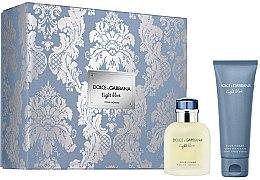 Düfte, Parfümerie und Kosmetik Dolce & Gabbana Light Blue Pour Homme - Duftset (Eau de Toilette 75ml+After Shave Balsam 75ml)