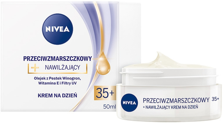 Feuchtigkeitsspendende Anti-Aging Tagescreme mit Traubenkernen, Vitamin E und UV-Filter 35+ - Nivea Creme Anti-Wrinkle Day Care — Bild N1