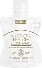 Düfte, Parfümerie und Kosmetik Klärende Peel-Off Gesichtsmaske mit kolloidalem Gold - Pupa Shachet Mask Peel-Off Brightening Mask