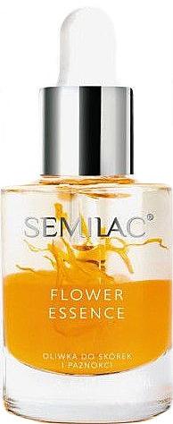 Nagel- und Nagelhautschutzöl mit Pfirsichkernöl - Semilac Flower Essence Orange Strength