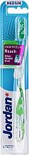 Düfte, Parfümerie und Kosmetik Zahnbürste mit Schutzkappe mittel Individual Reach weiß-grün - Jordan Individual Reach Medium Toothbrush