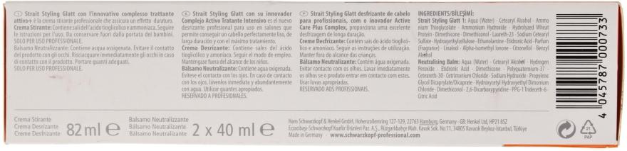 Schwarzkopf Professional Strait Styling Glatt Kit 1 - Set für dauerhafte Haarglättung  — Bild N6