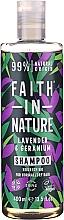 Düfte, Parfümerie und Kosmetik Nährendes Shampoo mit Lavendel und Geranie für normales und trockenes Haar - Faith In Nature Lavender & Geranium Shampoo