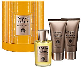 Düfte, Parfümerie und Kosmetik Acqua di Parma Colonia Intensa - Duftset (Eau de Cologne 100ml+Duschgel 75ml+After Shave Balsam 75ml)