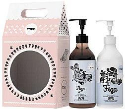 Düfte, Parfümerie und Kosmetik Körperpflegeset - Yope Fig (Flüssigseife 500ml + Hand- und Körperbalsam 300ml)