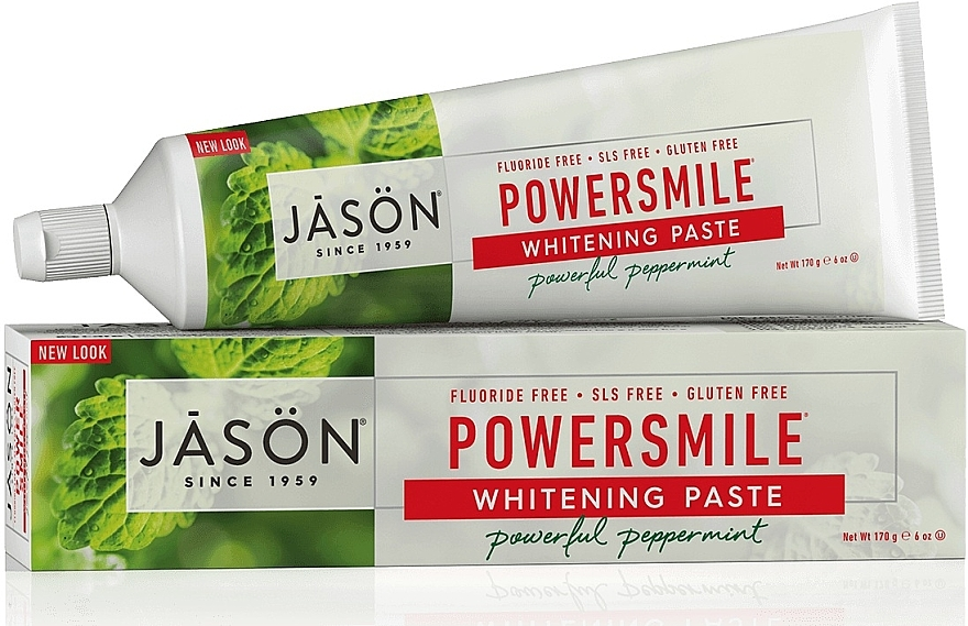 Aufhellende Zahnpasta mit Pfefferminzöl Power Smile - Jason Natural Cosmetics PowerSmile All Natural Whitening Toothpaste