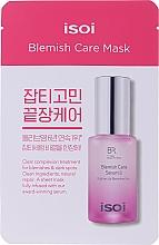 Düfte, Parfümerie und Kosmetik Feuchtigkeitsspendende und aufhellende Tuchmaske für das Gesicht mit bulgarischem Rosenöl gegen dunkle Flecken und Hautunreinheiten - Isoi Bulgarian Rose Blemish Care Mask