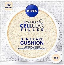 Düfte, Parfümerie und Kosmetik 3in1 Pflege Cushion LSF 15 - Nivea Hyaluron Cellular Filler 3in1 Care Cushion SPF 15