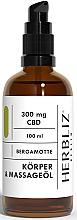 Düfte, Parfümerie und Kosmetik Massageöl für den Körper mit Bergamotte - Herbliz CBD