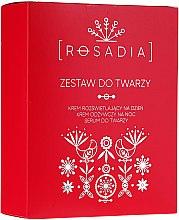 Düfte, Parfümerie und Kosmetik Gesichtspflegeset (Tages- und Nachtcreme 2x50ml + Gesichtsserum 30ml) - Rosadia