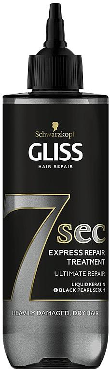 Rekonstruierende Haarmaske für trockenes und strapaziertes Haar - Schwarzkopf Gliss Kur 7 Sec Express Repair Treatment Ultimate Repair