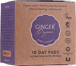 Düfte, Parfümerie und Kosmetik Ultradünne Slipeinlagen mit Flügeln 10 St. - Ginger Organic