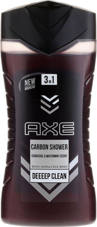 3in1 Duschgel für Körper, Haar und Gesicht - Axe Carbon Shower Gel