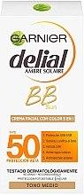 Düfte, Parfümerie und Kosmetik 5in1 Sonnenschützende BB Gesichtscreme SPF 50 - Garnier Delial Ambre Solaire BB Cream SPF50