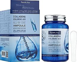 Düfte, Parfümerie und Kosmetik Gesichtsserum mit Kollagen und Hyaluronsäure - FarmStay Collagen & Hyaluronic Acid All-In-One Ampoule