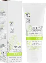 Düfte, Parfümerie und Kosmetik 2in1 Peelingmaske für das Gesicht mit Bio Jojoba für alle Hauttypen - Styx Naturcosmetic 2in1 Mit Bio-Jojoba