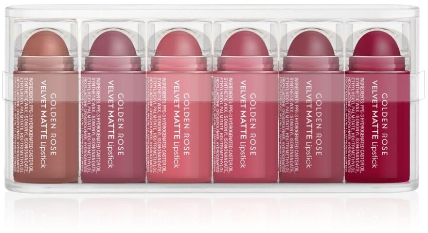 Matte Lippenstifte Set (6x0,5g) - Golden Rose Matte Lipsticks Mini Set — Bild N1