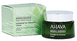 Düfte, Parfümerie und Kosmetik Nährende und beruhigende Anti-Aging Nachtcreme - Ahava Mineral Radiance Overnight De-Stressing Cream