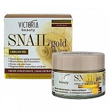 Düfte, Parfümerie und Kosmetik Feuchtigkeitsspendende und nährende Tagescreme mit Schneckenschleimextrakt und Arganöl - Victoria Beauty Snail Gold Argan Oil Day Cream