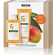 Düfte, Parfümerie und Kosmetik Haarpflegeset - Klorane Mango (Shampoo mit Mangoöl 200ml + Haarspülung mit Mangoöl 200ml)
