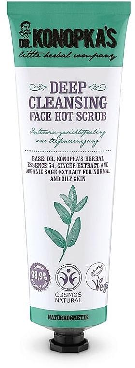 Tiefenreinigendes Gesichtspeeling mit Ingwer- und Salbeiextrakt für normale und fettige Haut - Dr. Konopka's Face Hot Deep Cleansing Scrub