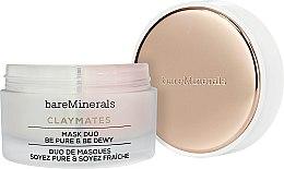 Düfte, Parfümerie und Kosmetik Reinigende und feuchtigkeitsspendende Doppelgesichtsmaske - Bare Escentuals Bare Minerals Claymates Be Pure & Be Dewy Mask Duo