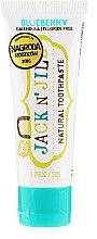 Düfte, Parfümerie und Kosmetik Natürliche Kinderzahnpasta mit Heidelbeergeschmack - Jack N' Jill Natural Toothpaste Blueberry