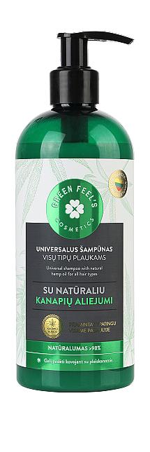 Pflegendes Shampoo mit natürlichem Hanföl für alle Haartypen - Green Feel's Hair Shampoo