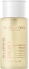 Düfte, Parfümerie und Kosmetik Feuchtigkeitsspendendes und glättendes Gesichtslotion-Tonikum mit Stevia-Extrakt und Preiselbeersamenöl - Revolution Skincare Superdewy Moisturizing Toner