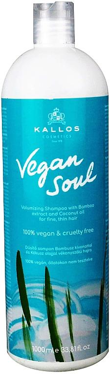 Shampoo für mehr Volumen mit Bambusextrakt und Kokosnussöl - Kallos Cosmetics KJMN Vegan Soul Volumizing Shampoo