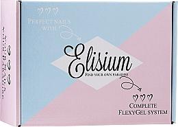 Düfte, Parfümerie und Kosmetik Nagelpflegeset - Elisium Diamond Maxi (Gel-Lack-Primer 15ml + Gel-Lack-Basis 15ml + Nagelaktivator 15ml + Nagelüberlack 15ml + Pinselreiniger 15ml + Nagelpulver 3x23g)