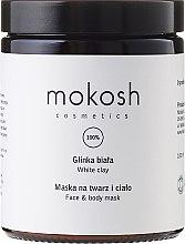 Düfte, Parfümerie und Kosmetik Gesichts- und Körpermaske mit weißem Ton - Mokosh Cosmetics White Clay Face and Body Mask