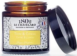 Düfte, Parfümerie und Kosmetik Duftkerze Thymian & Zitrone - Le Chatelard 1802 Thyme-Lemon Scented Candle