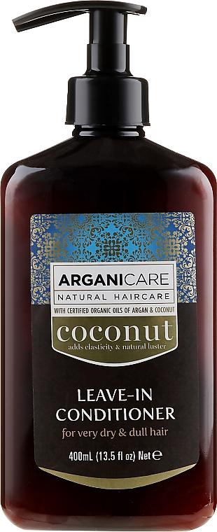 Conditioner mit Kokosnuss für sehr trockenes und stumpfes Haar ohne Ausspülen - Arganicare Coconut Leave-In Conditioner For Very Dry & Dull Hair