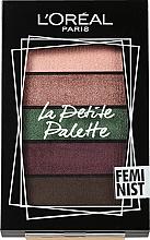 Düfte, Parfümerie und Kosmetik Lidschattenpalette - L'Oreal Paris La Petite Palette Feminist Eyeshadow