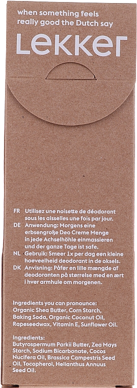 Natürliche Deodorant-Creme ohne Duft - The Lekker Company Natural Deodorant Neutral — Bild N3