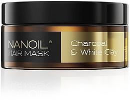 Düfte, Parfümerie und Kosmetik Haarmaske mit Aktivkohle und weißem Ton - Nanoil Charkoal & White Clay Hair Mask