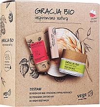 Düfte, Parfümerie und Kosmetik Gesichtspflegeset - Gracja Bio Inspired Nature (Handcreme 50ml + Gesichtscreme 50ml + Lippenbalsam 5g)
