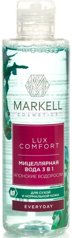 3in1 Mizellen Reinigungswasser mit japanischem Algenextrakt - Markell Cosmetics Lux-Comfort