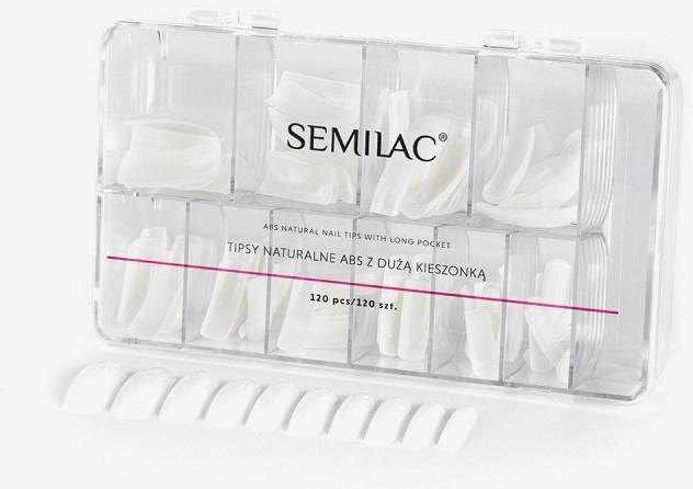 Profilierte künstliche Tips 120 St. - Semilac Natural Tips Box