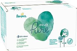 Düfte, Parfümerie und Kosmetik Feuchte Babytücher 9x48 St. - Pampers Aqua Pure Wipes