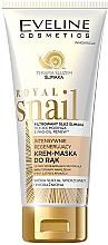 Düfte, Parfümerie und Kosmetik Intensiv regenerierende Handcreme-Maske mit Schneckenschleimfiltrat - Eveline Cosmetics Royal Snai