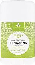 Düfte, Parfümerie und Kosmetik Natürlicher Soda Deo-Stick Persian Lime - Ben & Anna Natural Soda Deodorant Persian Lime