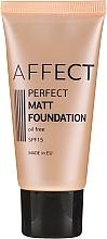 Düfte, Parfümerie und Kosmetik Mattierende Foundation - Affect Cosmetics Perfect Matt Foundation