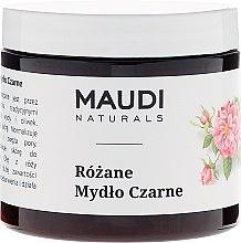 Düfte, Parfümerie und Kosmetik Schwarze Seife mit Damaszener Rosenöl - Maudi
