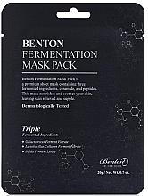 Düfte, Parfümerie und Kosmetik Nährende Tuchmaske mit Ceramiden und Peptiden - Benton Fermentation Mask Pack
