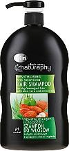 Düfte, Parfümerie und Kosmetik Revitalisierendes und beruhigendes Shampoo mit Aloe Vera und Mandelöl für trockenes und geschädigtes Haar - Bluxcosmetics Naturaphy Hair Shampoo
