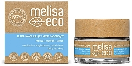Düfte, Parfümerie und Kosmetik Intensiv feuchtigkeitsspendende und beruhigende Gesichtscreme - Melisa Eco